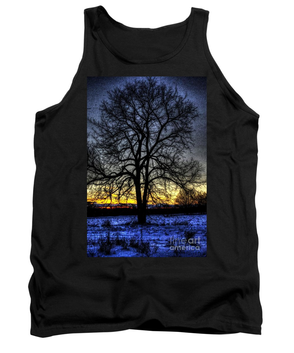Country Tank Top featuring the photograph The Field Tree Hdr by September Stone