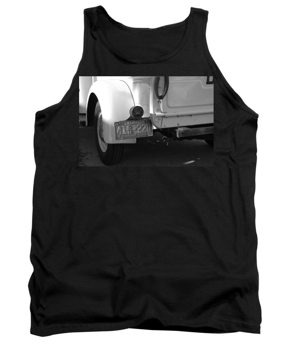 Black And White Tank Top featuring the photograph The Florida Dodge by Rob Hans