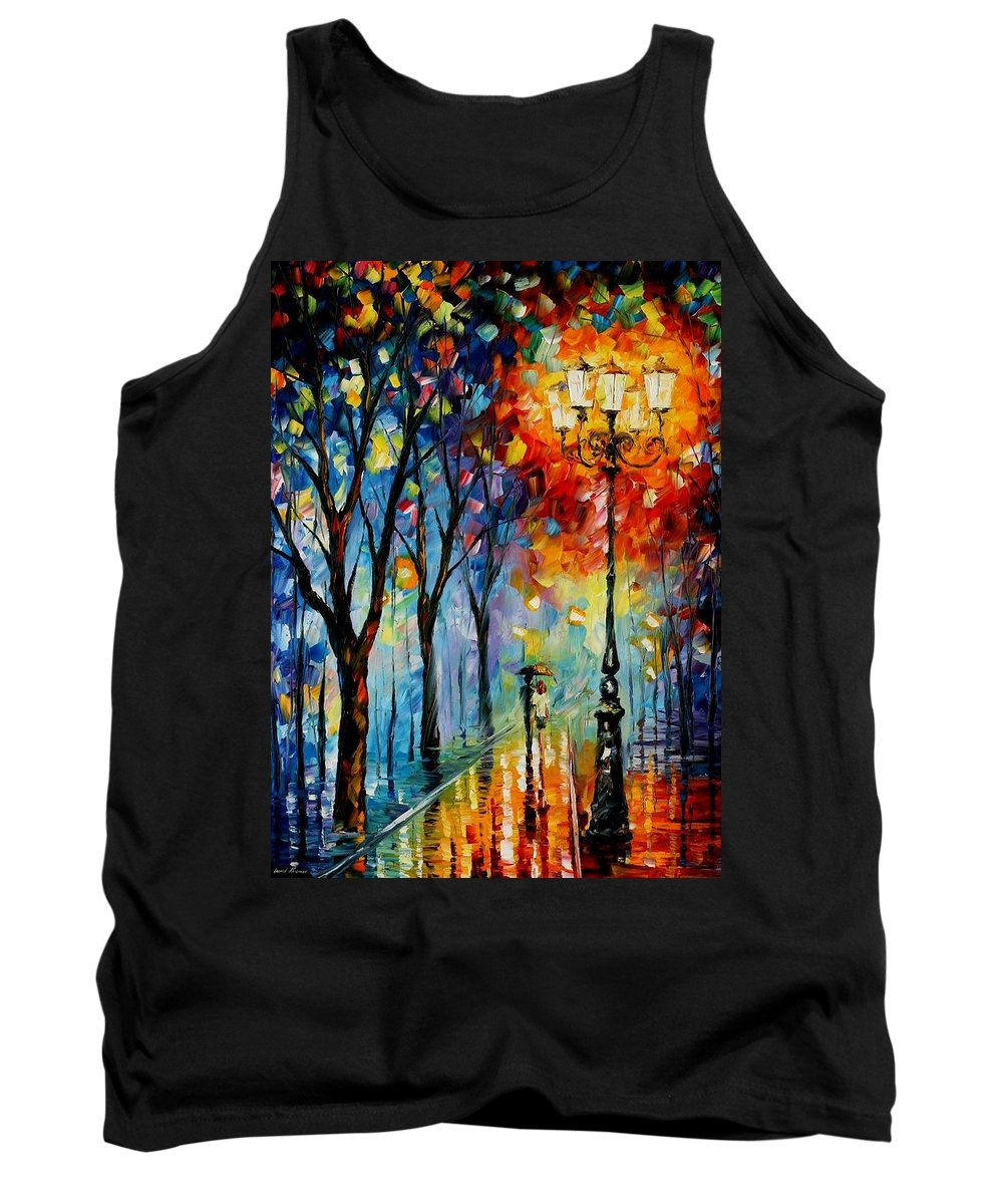 Afremov Tank Top featuring the painting The Fog Of Dreams by Leonid Afremov
