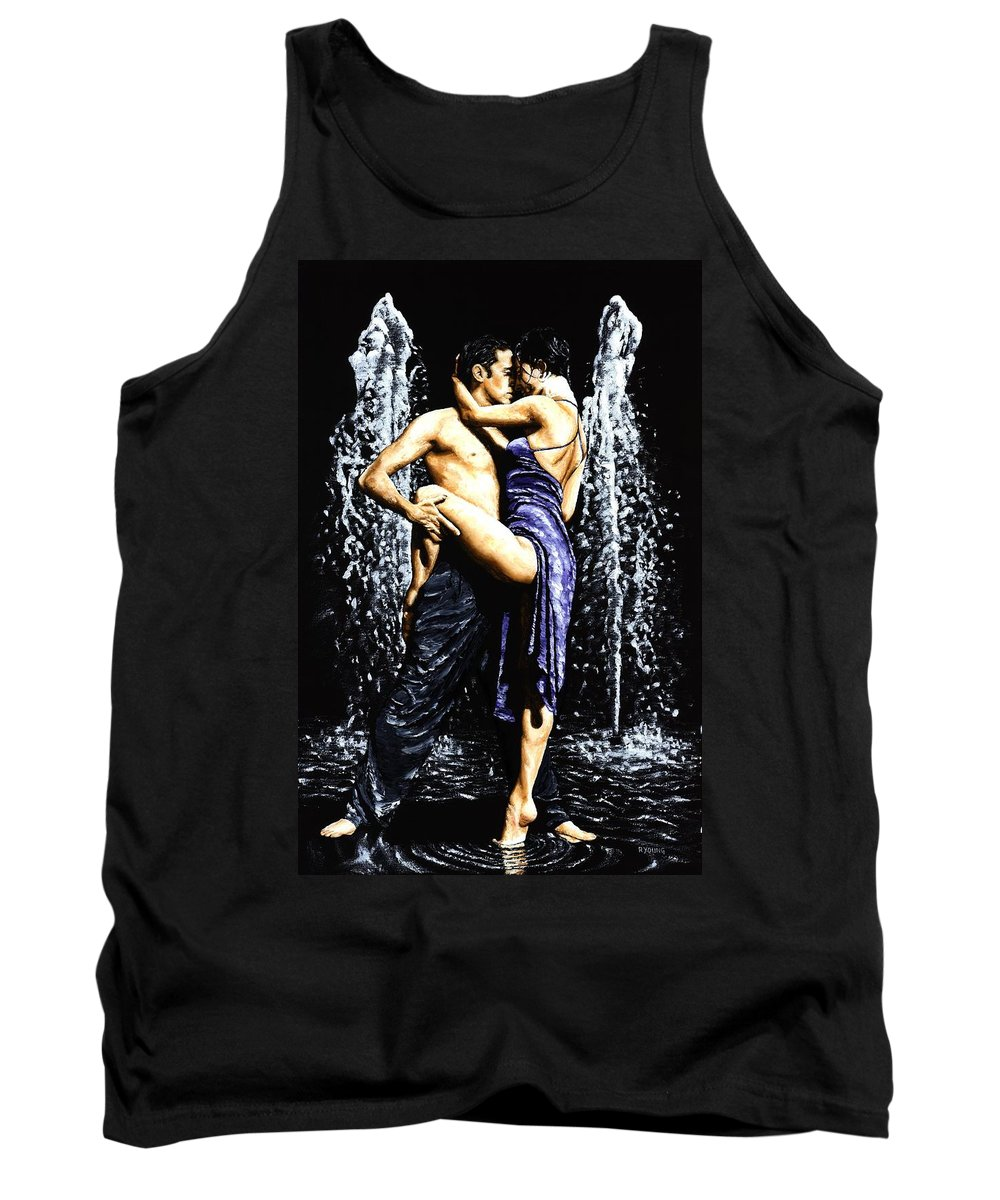Tango Tank Top featuring the painting The Fountain Of Tango by Richard Young