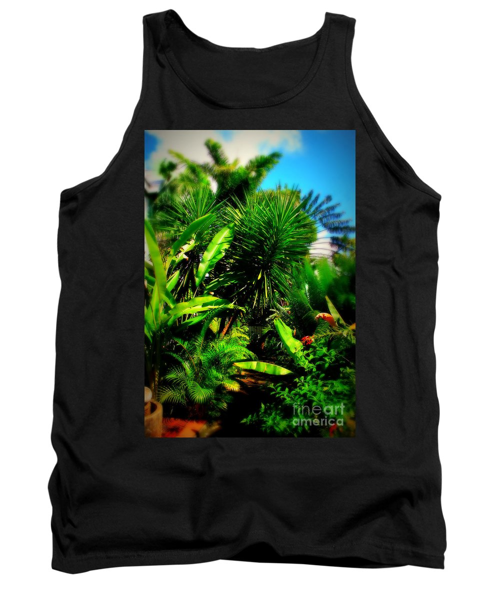 Plant Tank Top featuring the photograph The Garden Path by Perry Webster
