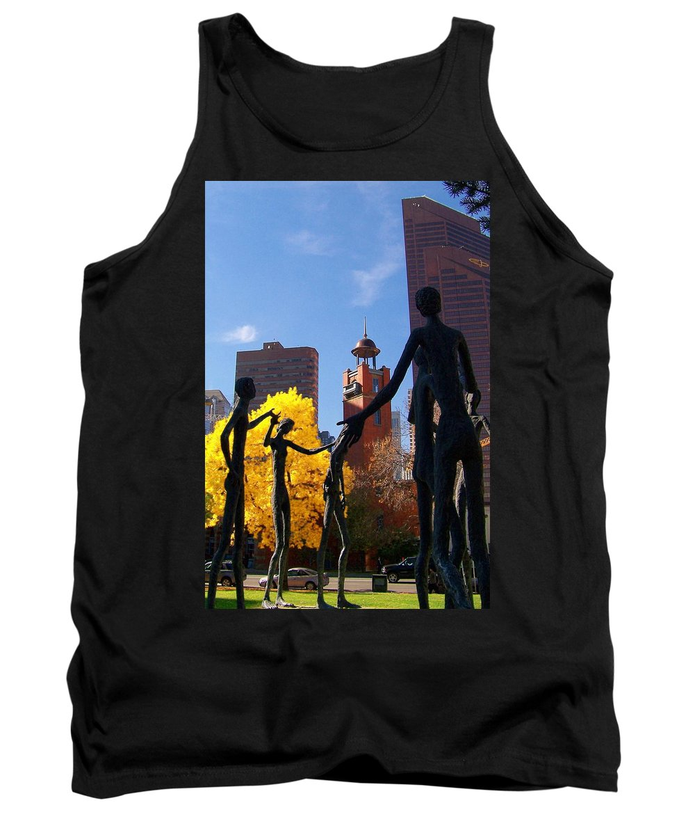 People Tank Top featuring the photograph The Gathering by Greg Hammond