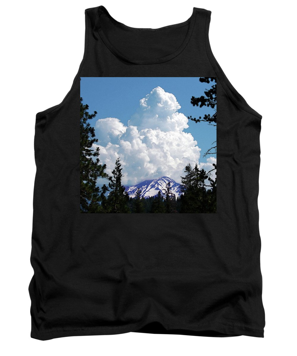 Mountain Tank Top featuring the digital art The Gathering by Vicki Lea Eggen