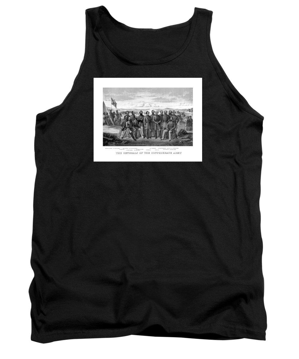 Civil War Tank Top featuring the mixed media The Generals Of The Confederate Army by War Is Hell Store