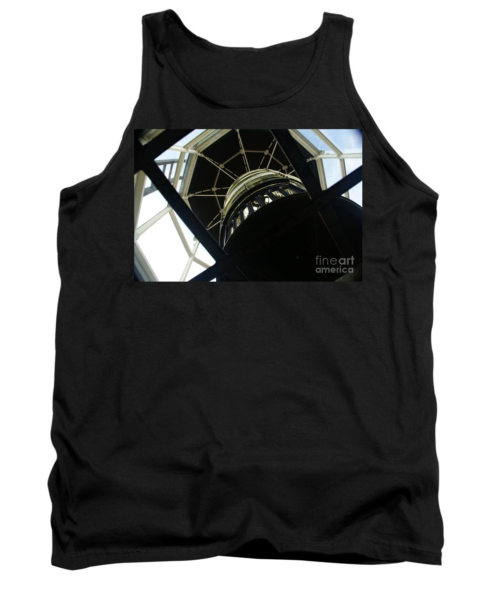 Lighthouse Tank Top featuring the photograph The Ghost Within by Linda Shafer