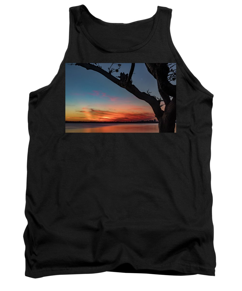 Sky Tank Top featuring the photograph The Golden Hour by Sue Errington-Wood