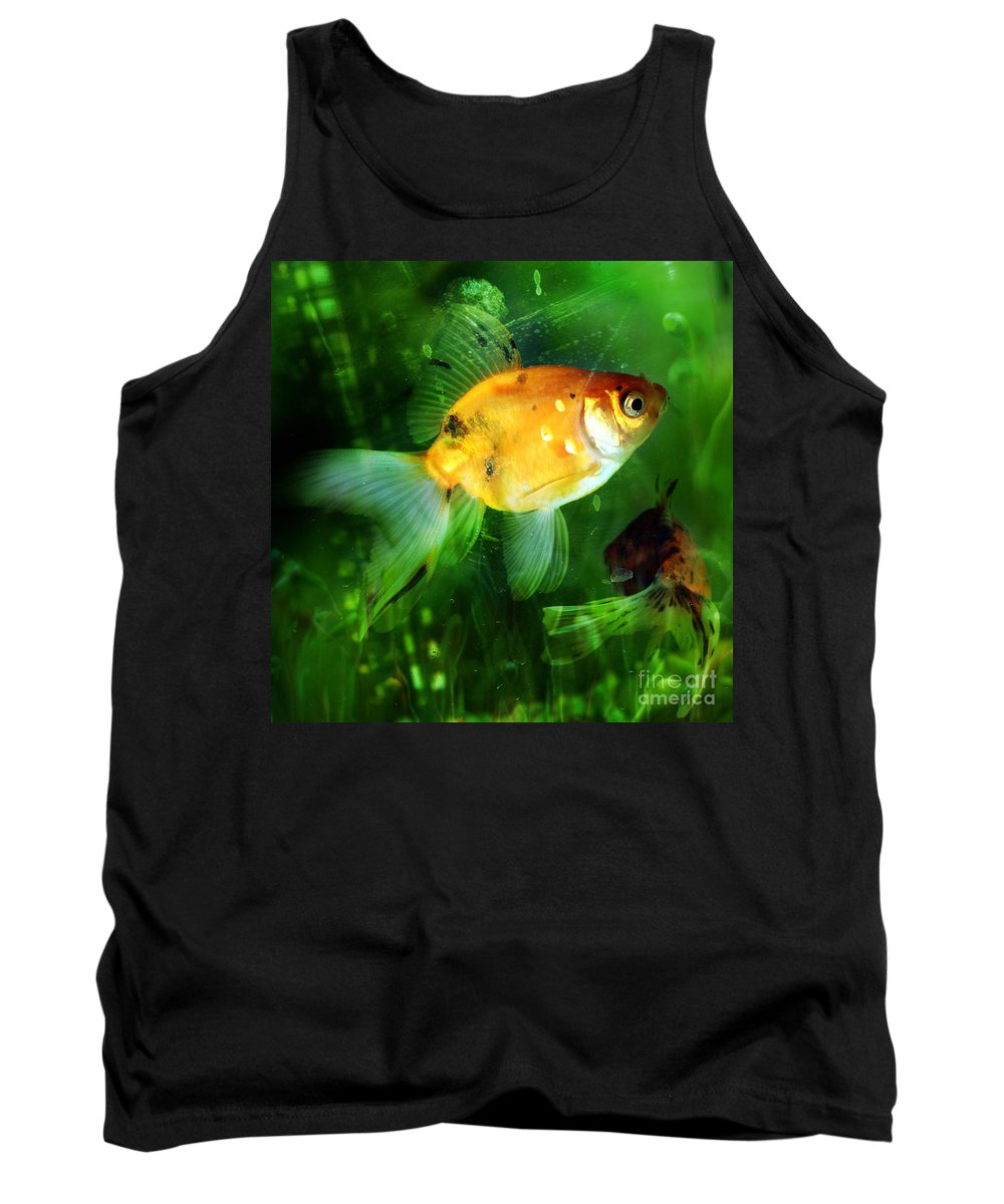 Fish Tank Top featuring the photograph The Goldfish by Angel Tarantella