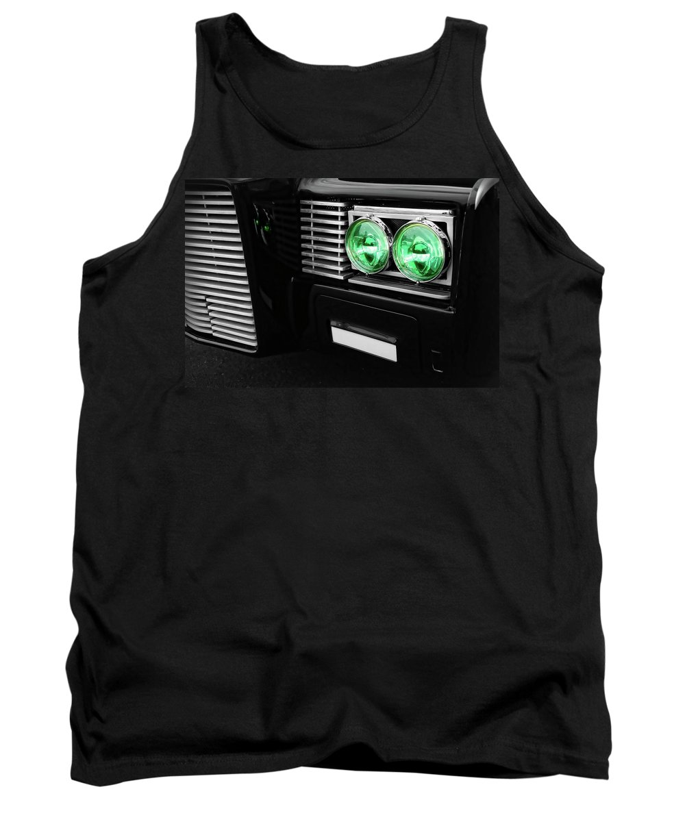 The Tank Top featuring the photograph The Green Hornet Black Beauty Clone Car by Gordon Dean II