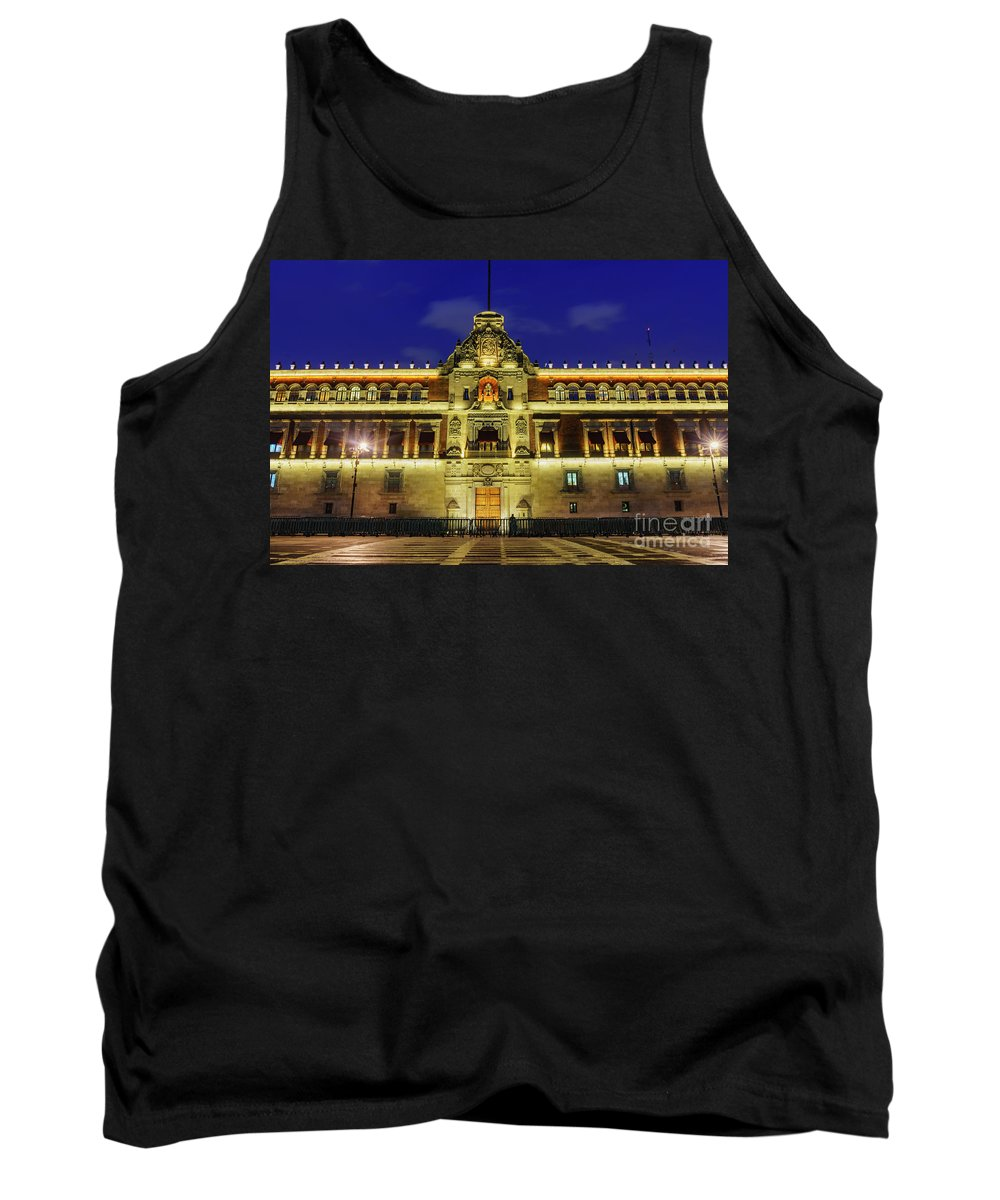 Mexico City Tank Top featuring the photograph The Historical National Palace by Chon Kit Leong