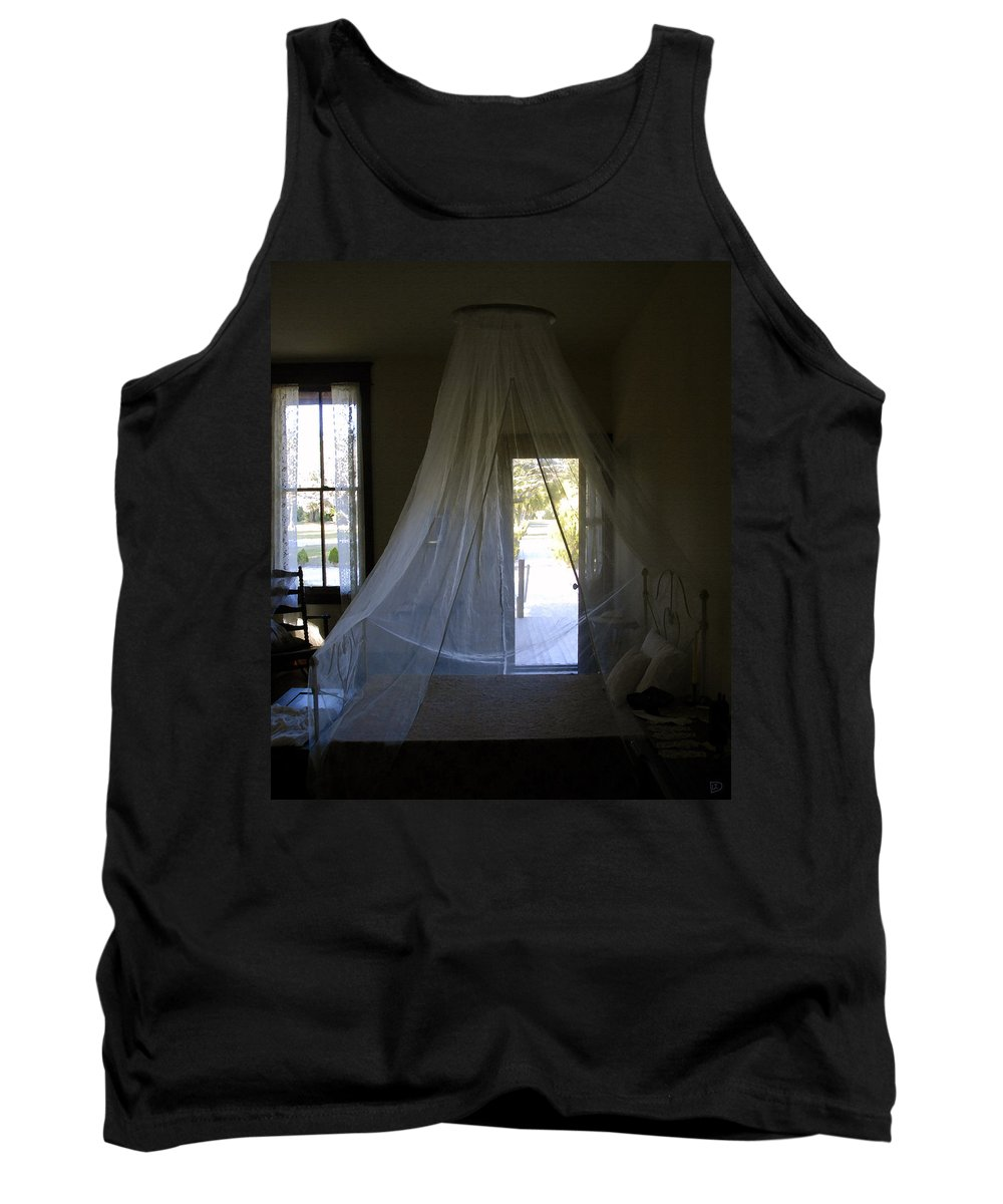 Bedroom Tank Top featuring the painting The Key West Bedroom by David Lee Thompson