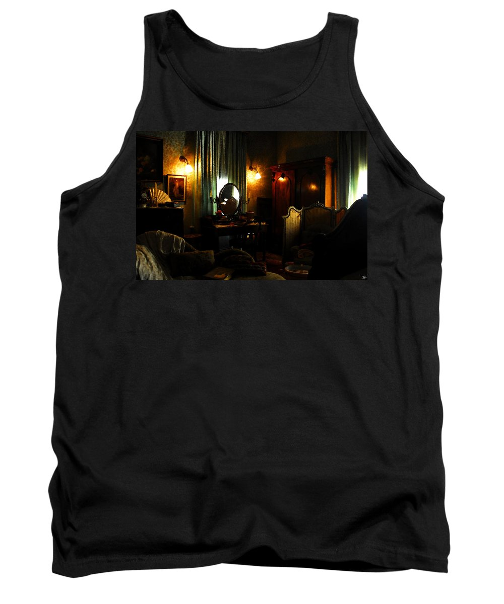 Art Tank Top featuring the painting The Lady's Room by David Lee Thompson