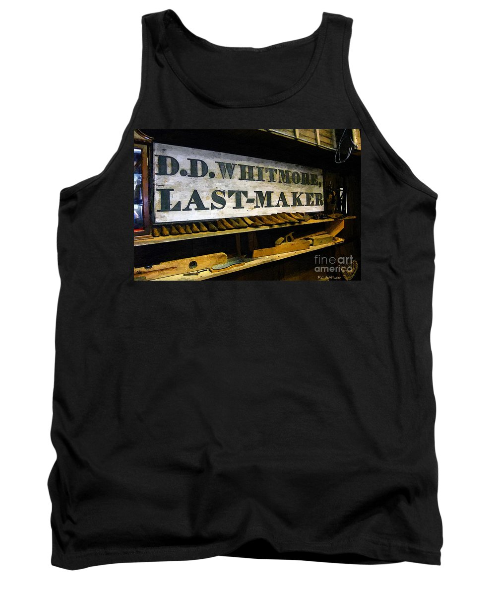 Antique Tank Top featuring the painting The Last Of The Last by RC DeWinter