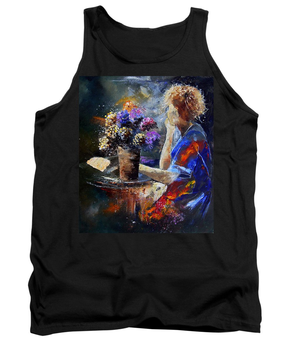 Girl Nude Tank Top featuring the painting The Letter by Pol Ledent