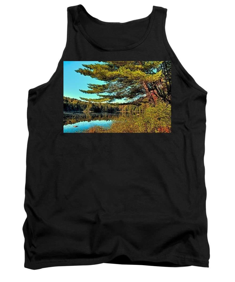 The Little Known Cary Lake Tank Top featuring the photograph The Little Known Cary Lake by David Patterson