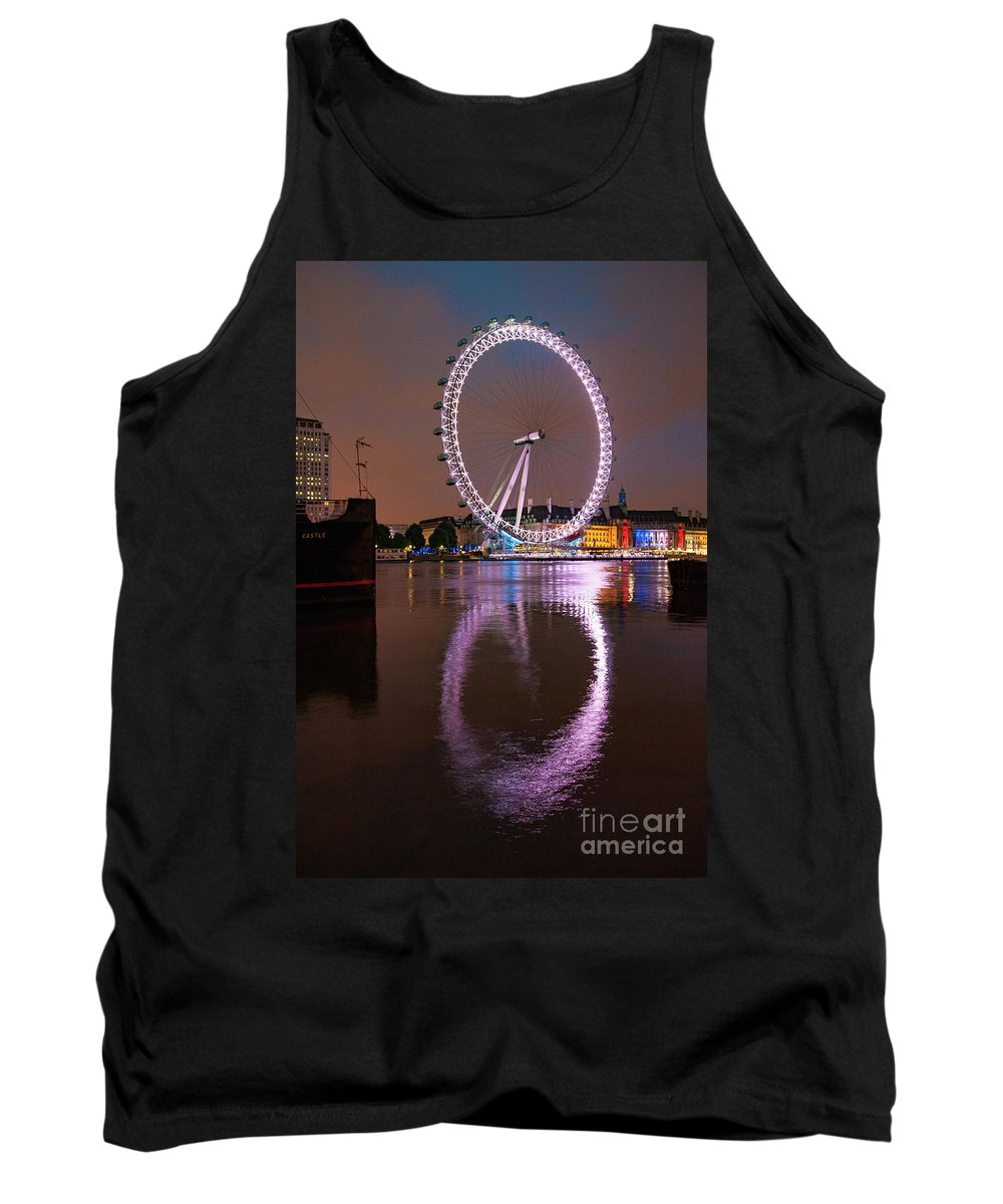 London Eye Tank Top featuring the photograph The London Eye by Smart Aviation