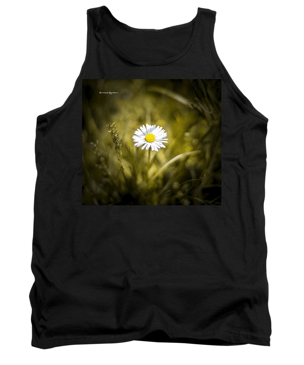 Flower Tank Top featuring the photograph The Lonely Daisy by Stwayne Keubrick