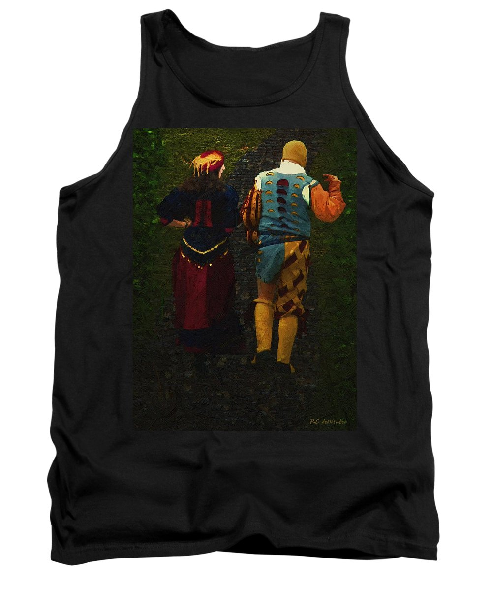 Cobblestones Tank Top featuring the painting The Long Walk Home by RC DeWinter