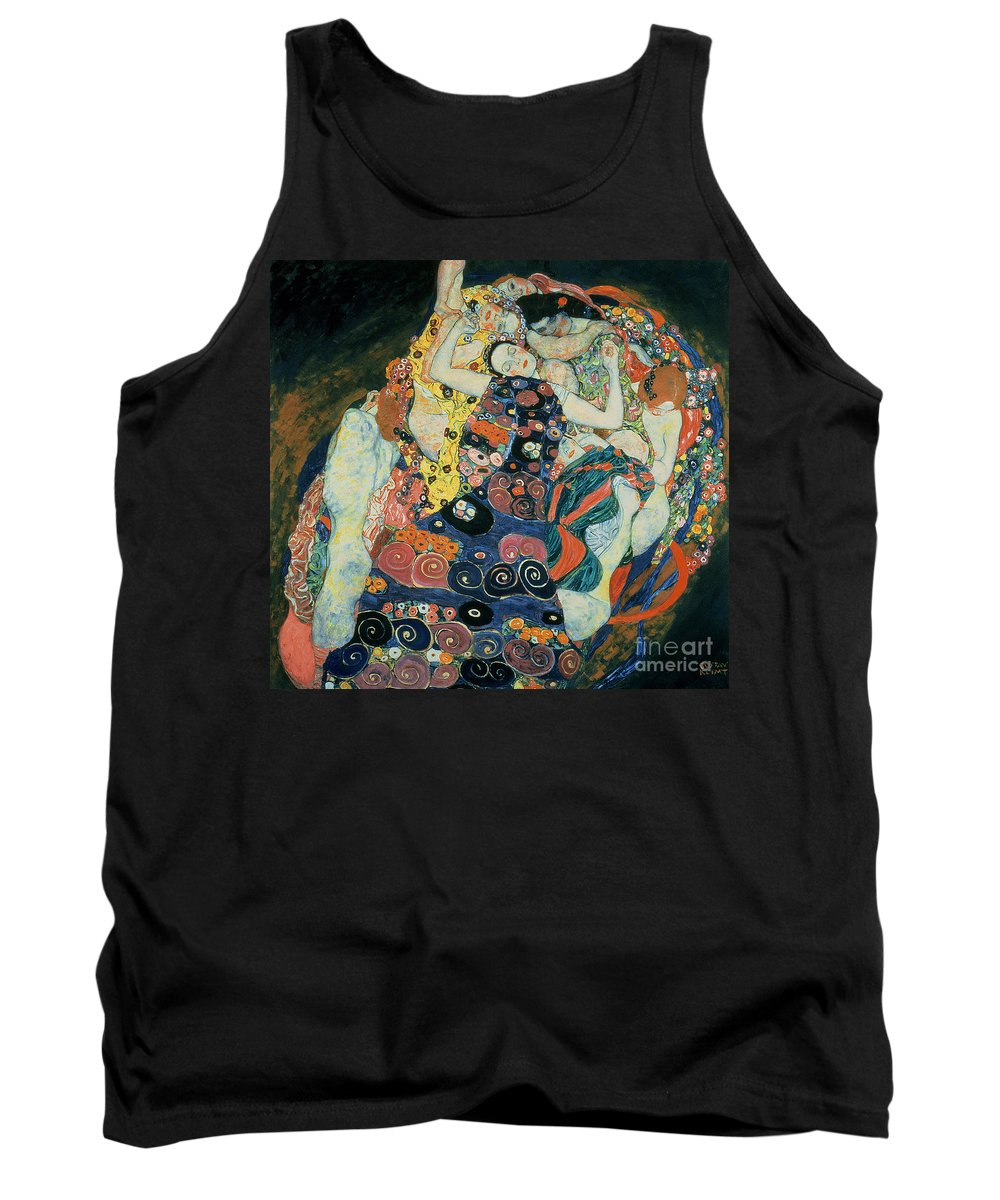 The Maiden Tank Top featuring the painting The Maiden by Gustav Klimt