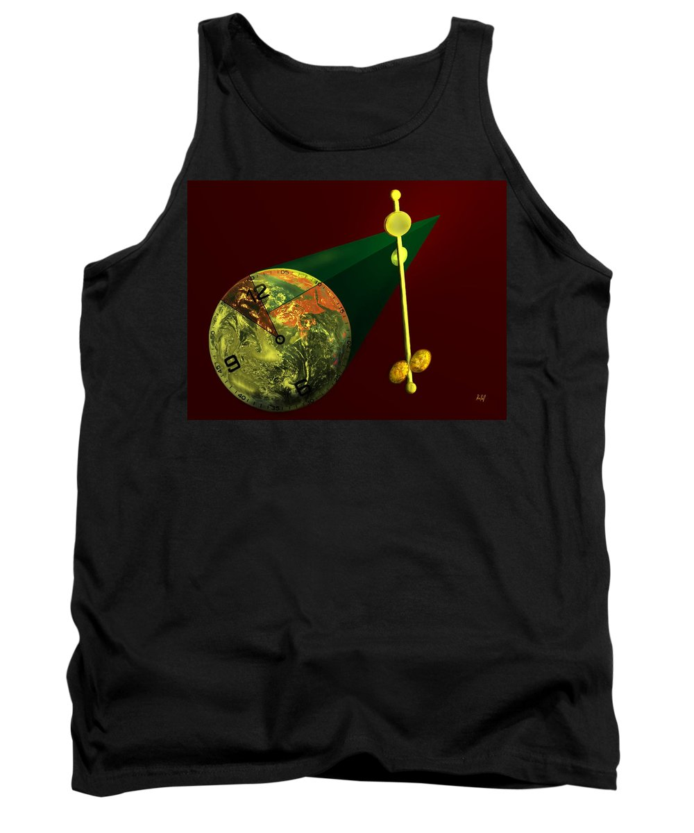 Earth Tank Top featuring the digital art The Metronome by Helmut Rottler