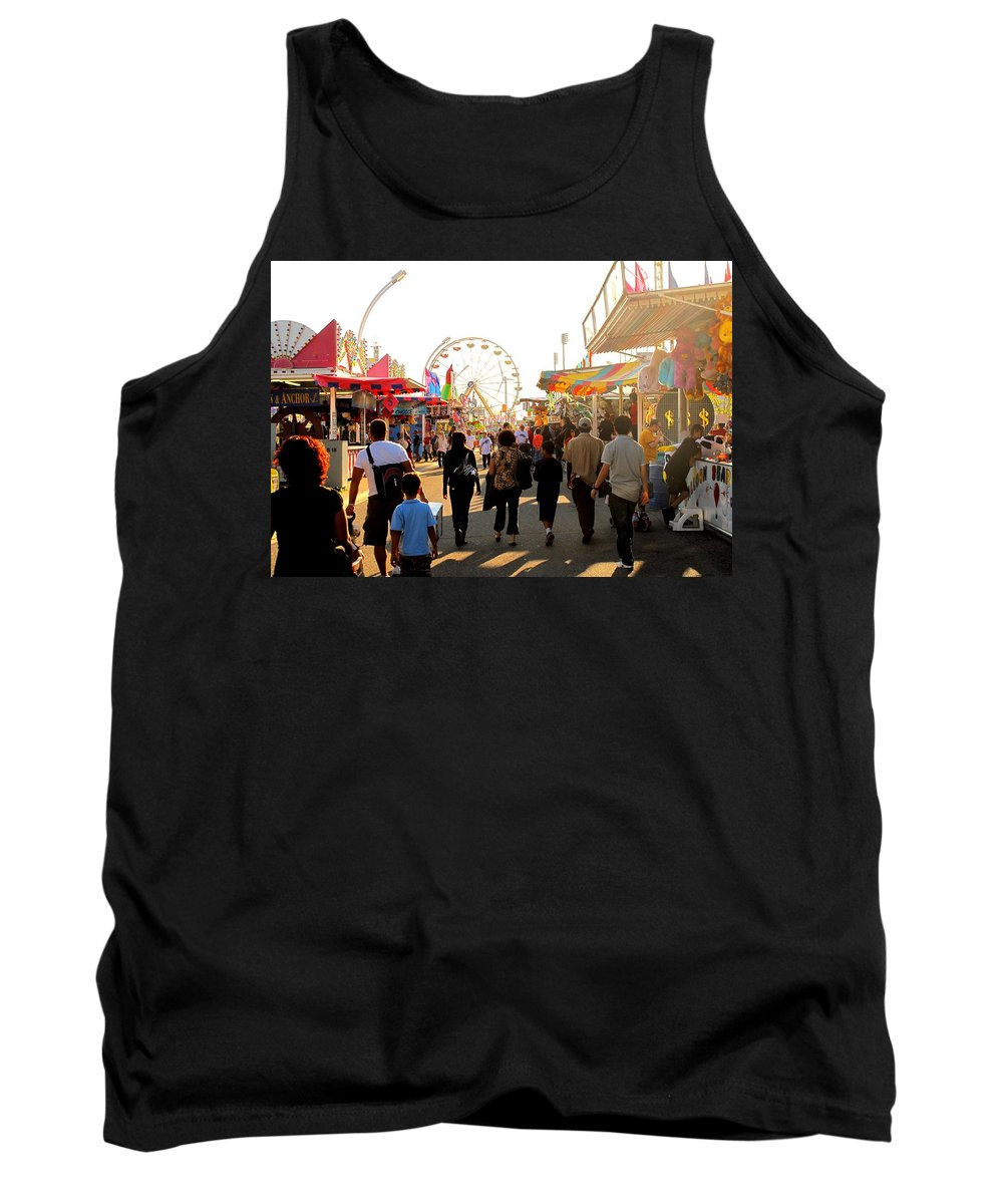 Canadian Tank Top featuring the photograph The Midway Stroll by Ian MacDonald