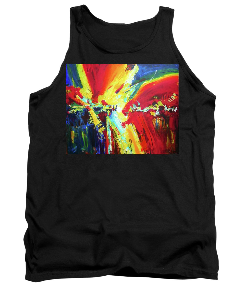 Abstract Tank Top featuring the painting The Moment by Joseph Catanzaro