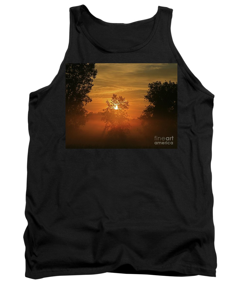 Sun Tank Top featuring the photograph The Mourning Mist by Robert Pearson