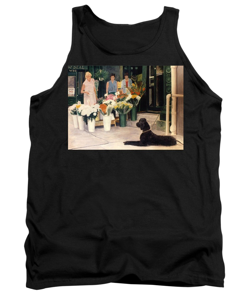 Mums Tank Top featuring the painting The New Deal by Steve Karol