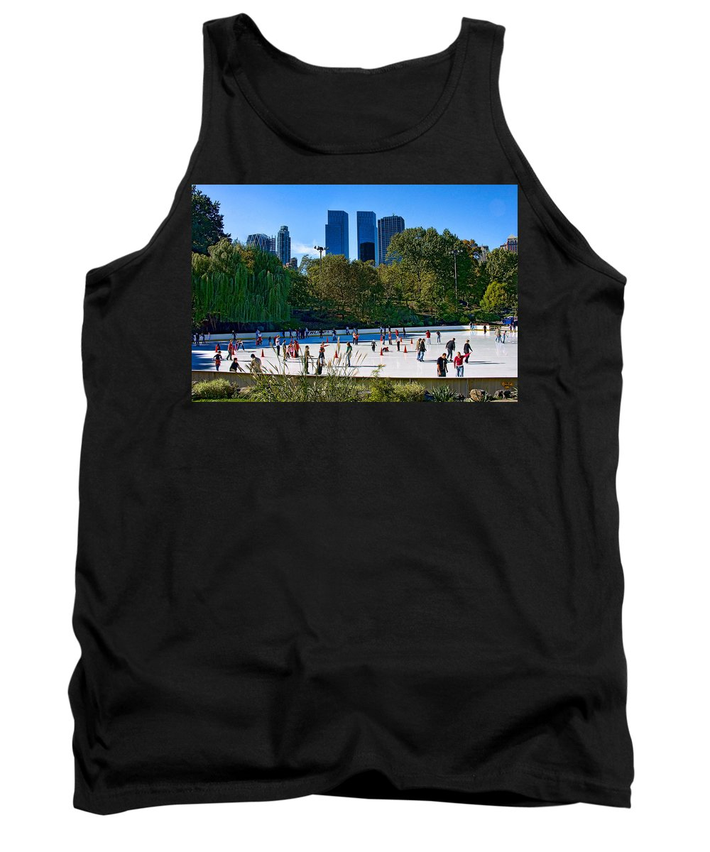Central Park Tank Top featuring the photograph The New York Central Park Ice Rink by Chris Lord