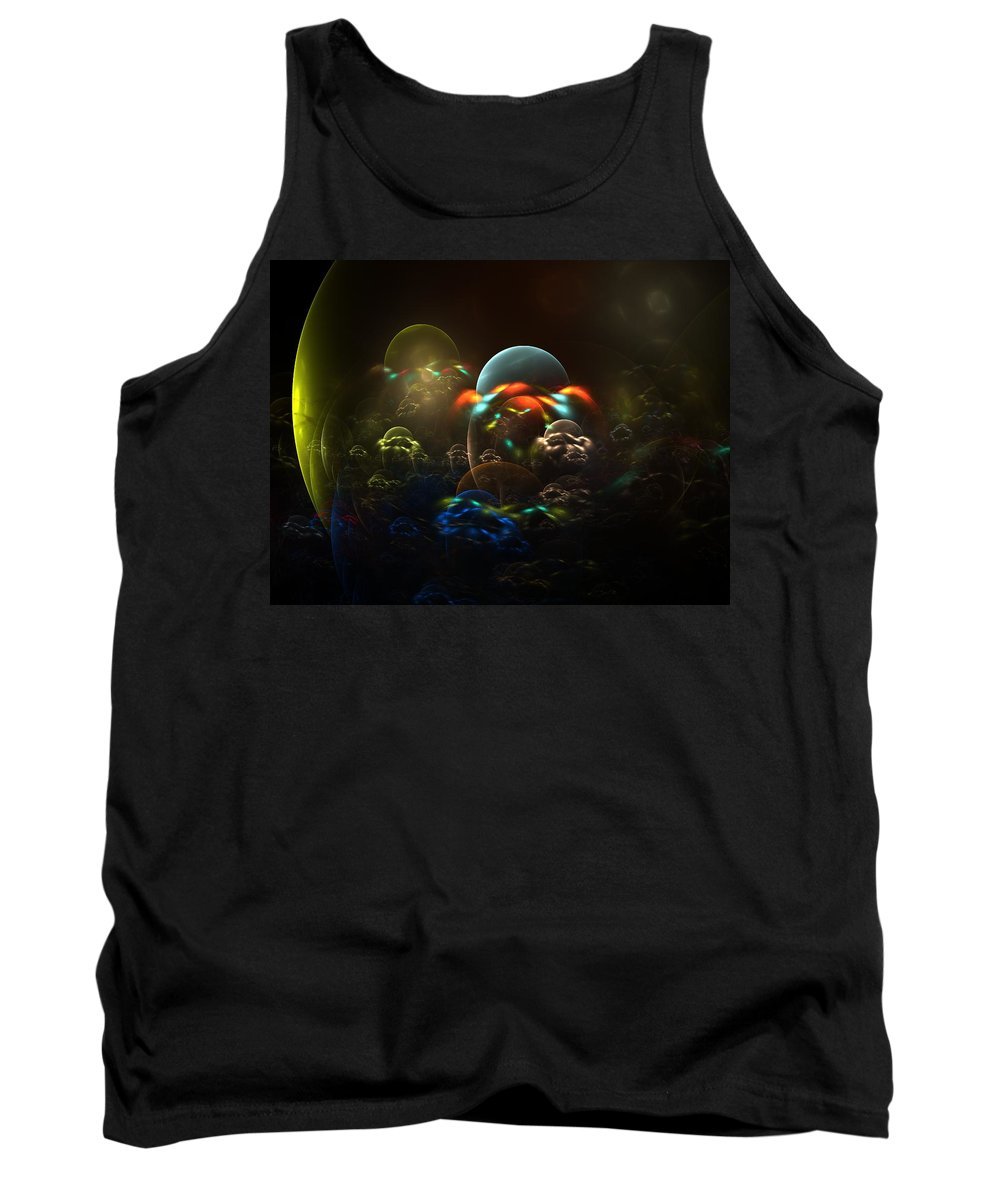 Fractal Tank Top featuring the digital art The Nursery by Lyle Hatch