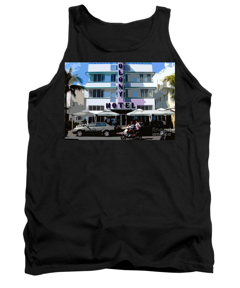 Hotel Tank Top featuring the photograph The Old Colony Hotel by David Lee Thompson