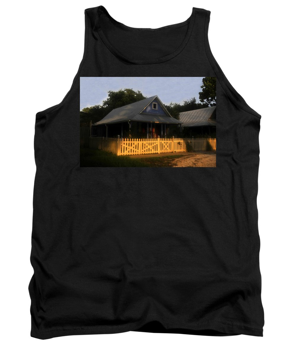 Home Tank Top featuring the painting The Old Neighborhood by David Lee Thompson
