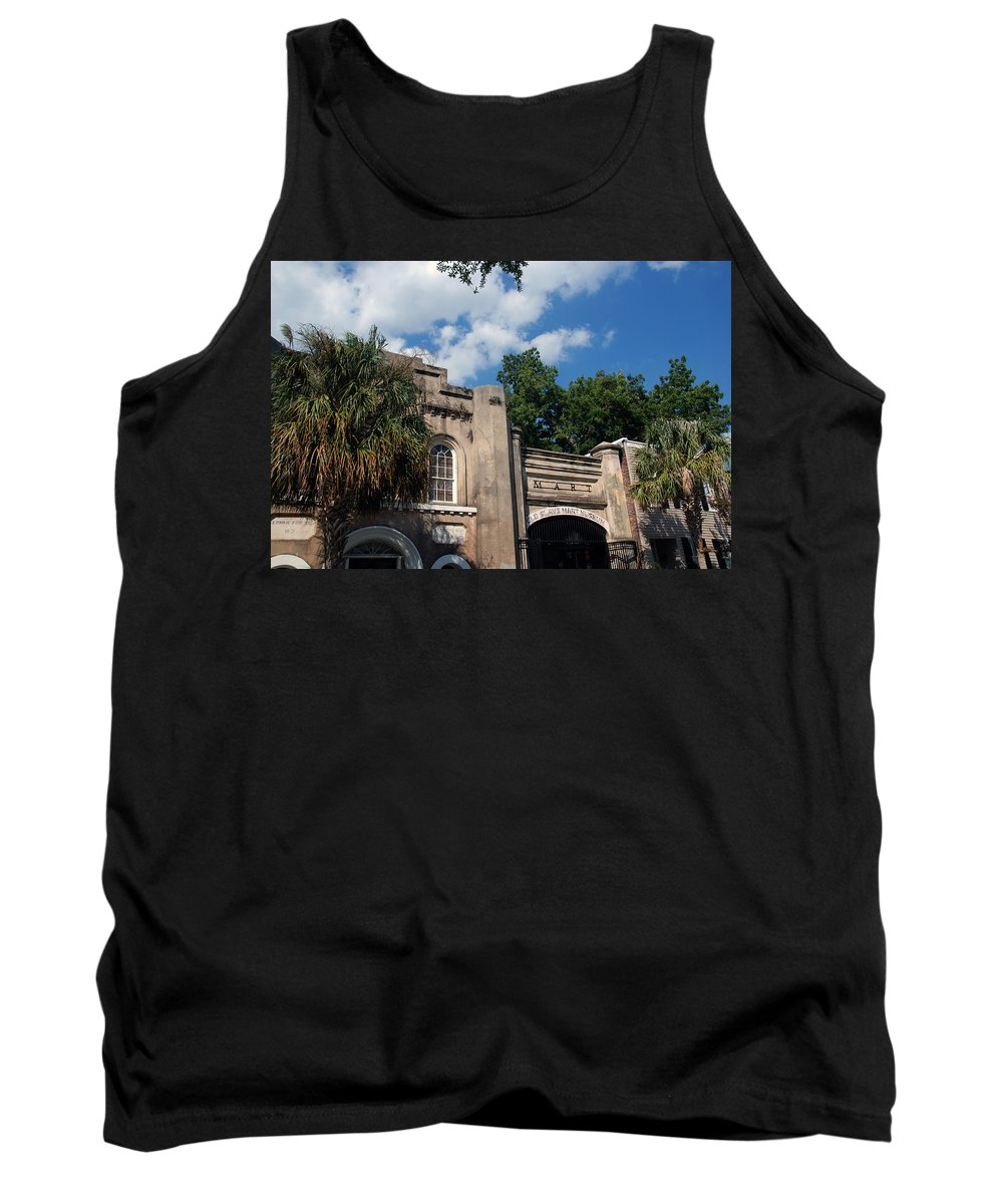 Photography Tank Top featuring the photograph The Old Slave Market Museum In Charleston by Susanne Van Hulst