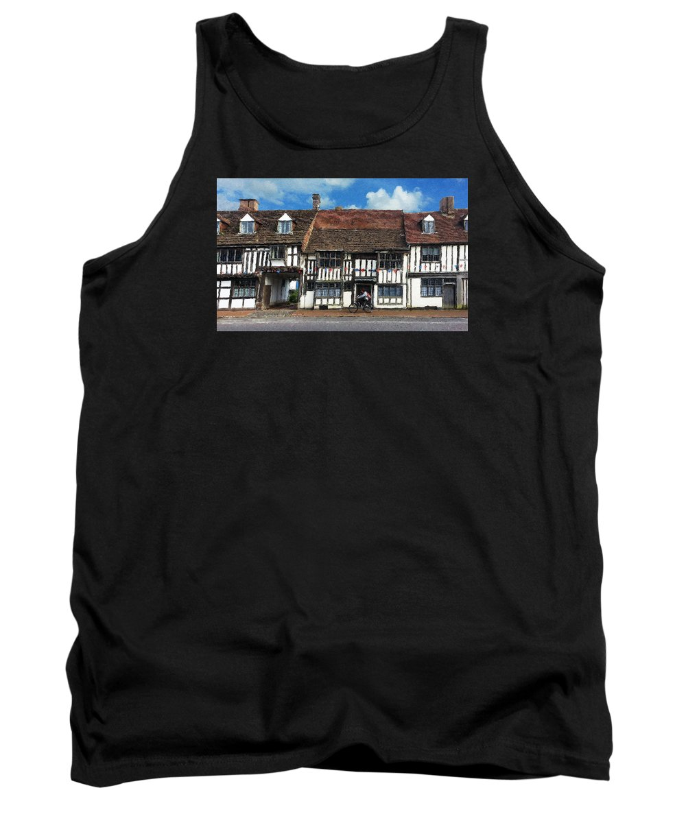 East Grinstead Tank Top featuring the digital art The Paperboy by Julian Perry