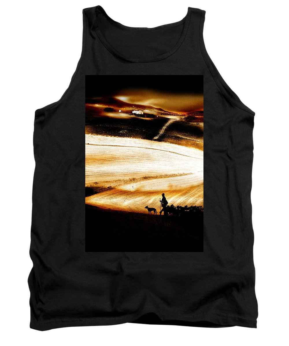 Landscape Tank Top featuring the photograph The Path Home by Mal Bray