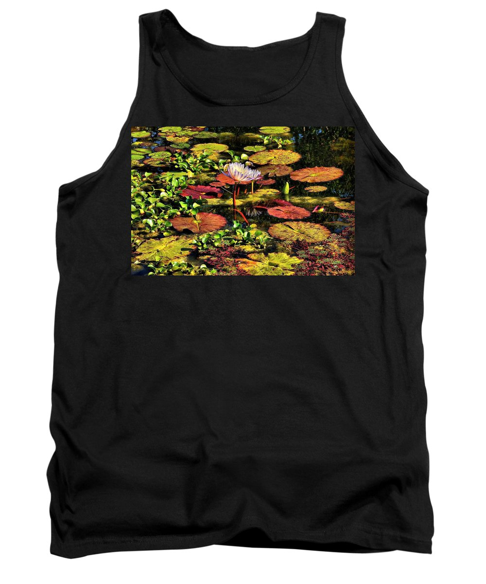 Pseudo-hdr Tank Top featuring the photograph The Pond by Lyle Hatch
