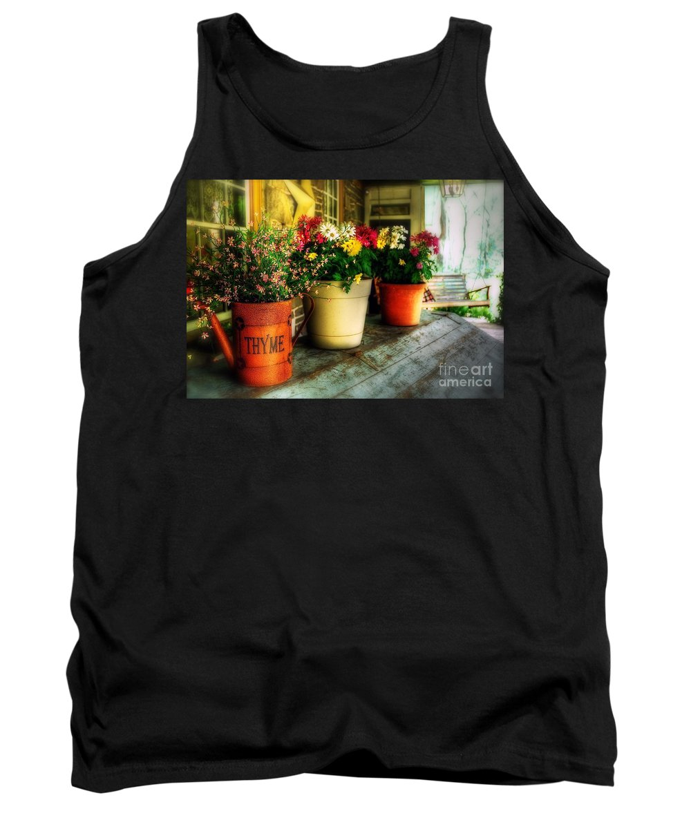 Porch Tank Top featuring the photograph The Porch Swing by Lois Bryan