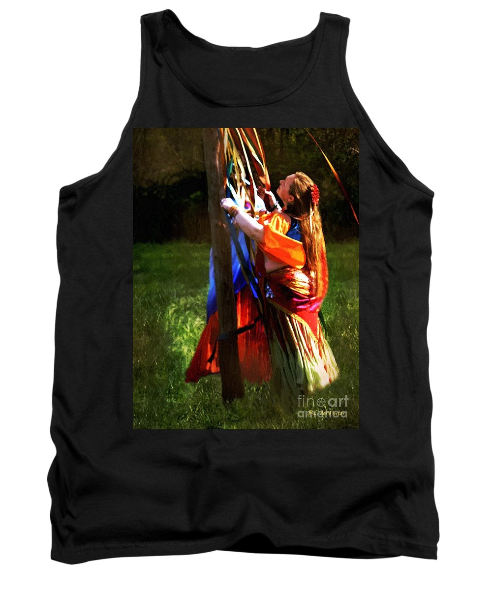 Colorful Tank Top featuring the painting The Readying Ritual by RC DeWinter