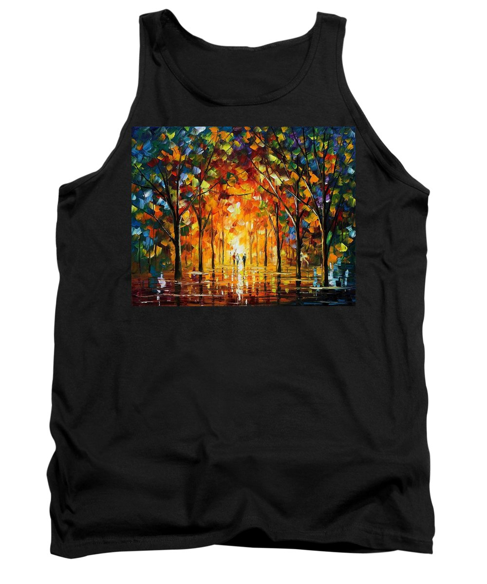 Afremov Tank Top featuring the painting The Return Of The Sun by Leonid Afremov