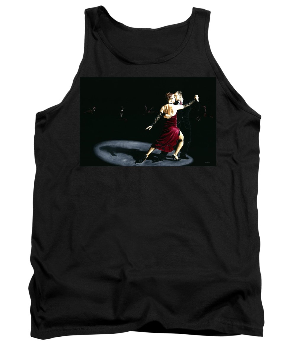 Tango Tank Top featuring the painting The Rhythm Of Tango by Richard Young