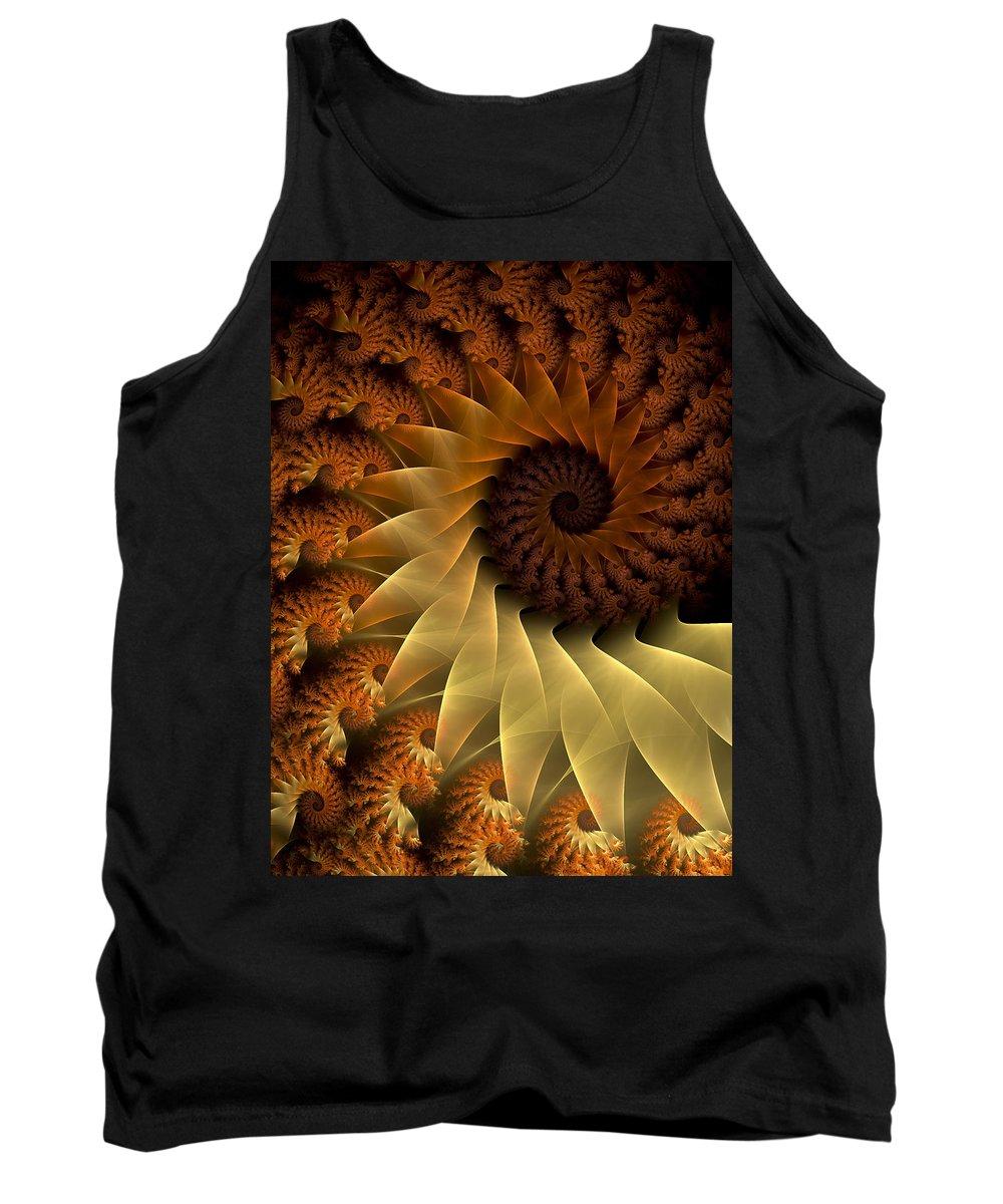 Fractal Tank Top featuring the digital art The Rising Sun by Amorina Ashton