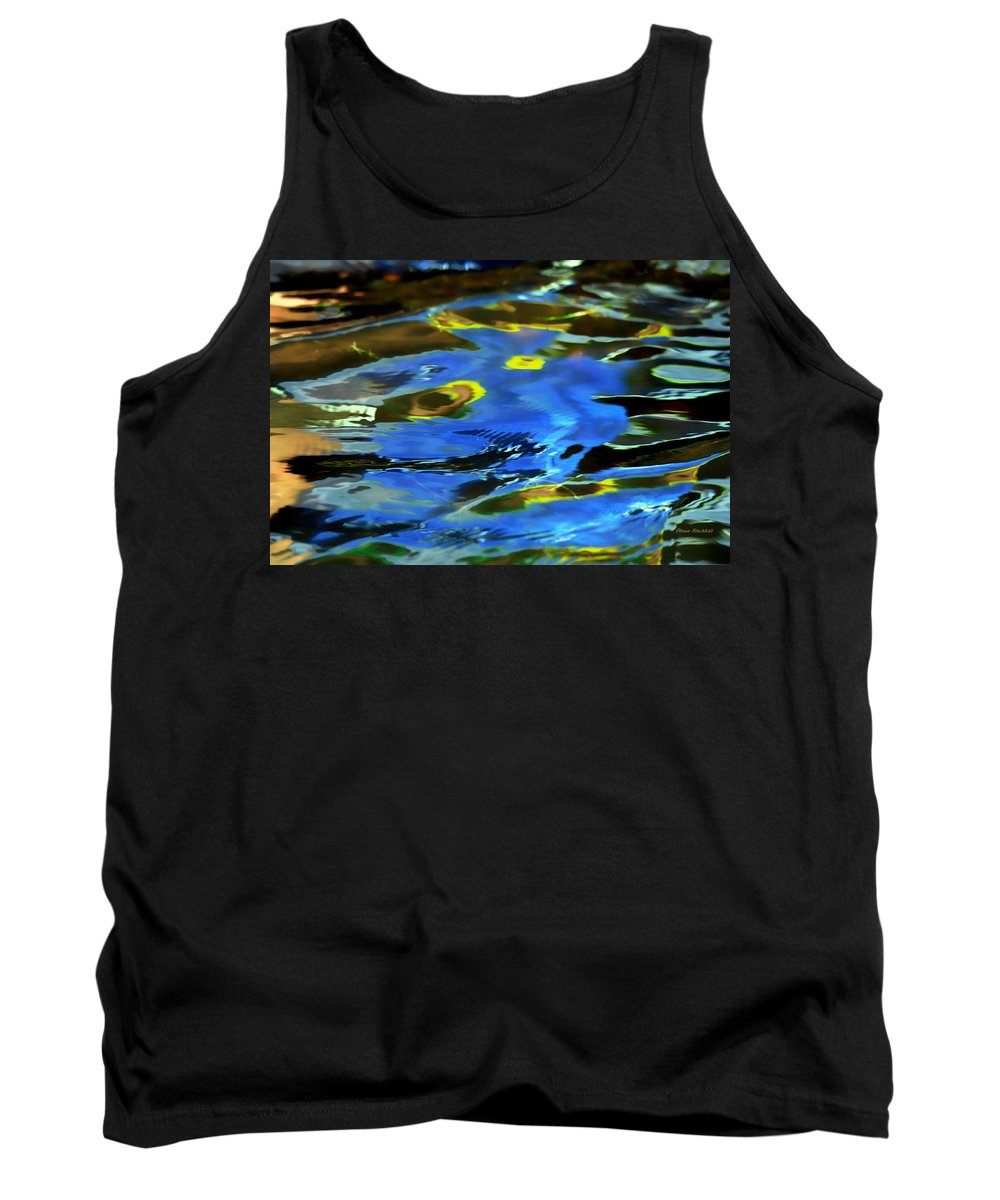 Abstract Water Tank Top featuring the photograph The Scream by Donna Blackhall