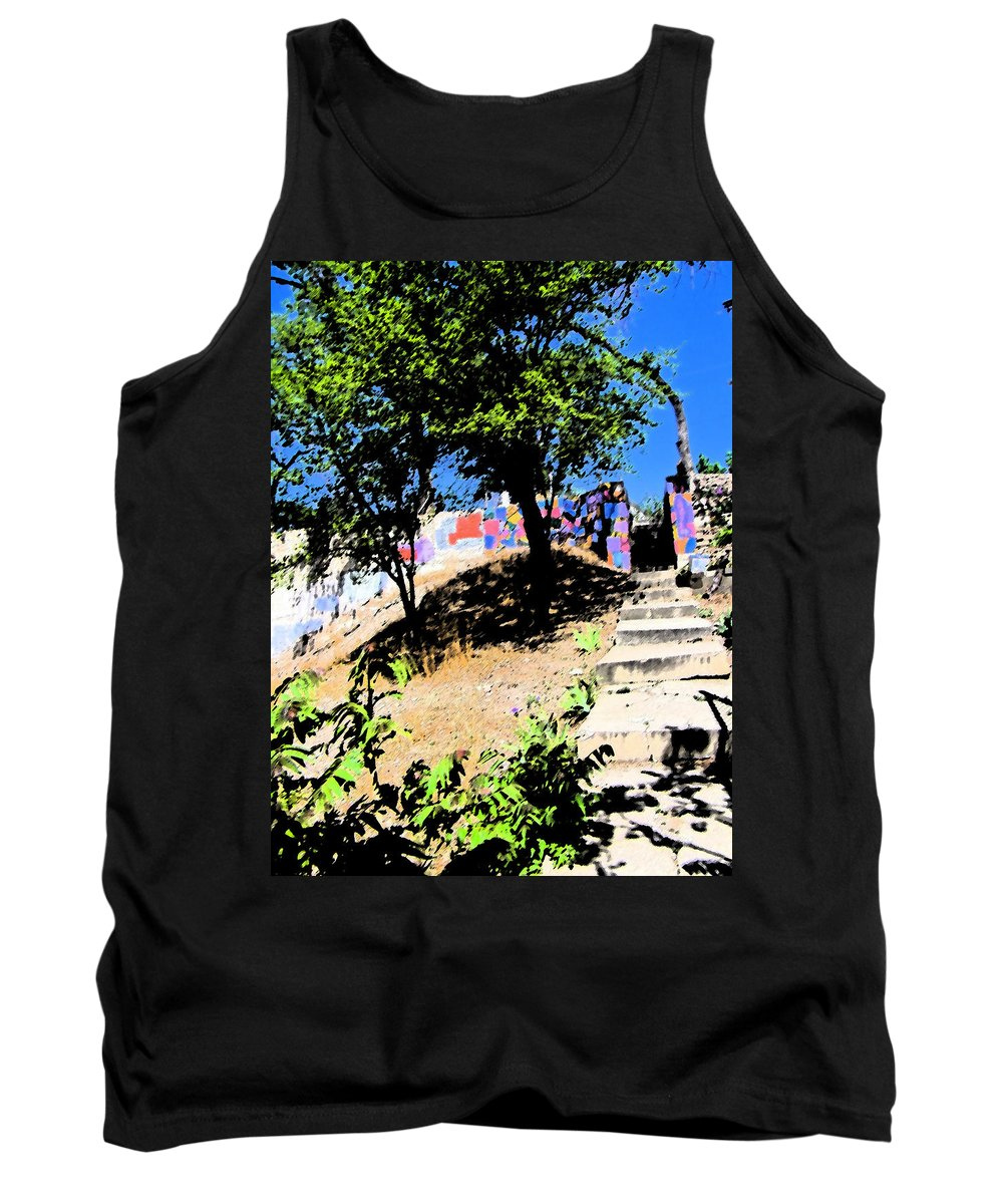 Abstract Tank Top featuring the photograph The Secret Garden by Lenore Senior