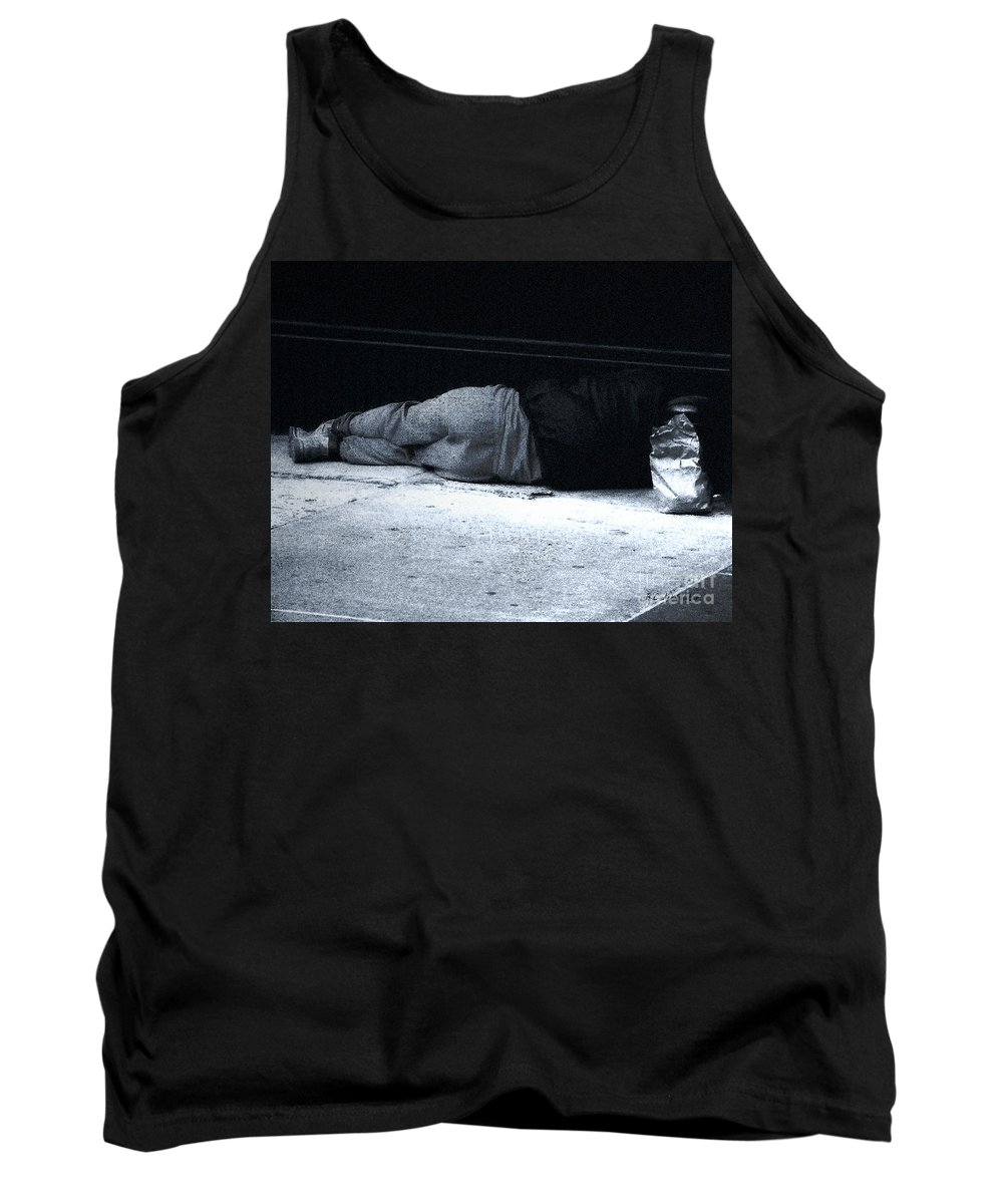 Homeless Tank Top featuring the photograph The Sidewalks Of New York by RC deWinter