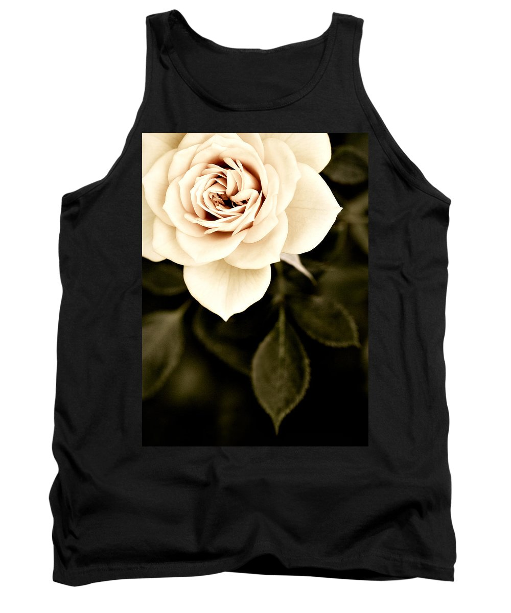 Rose Tank Top featuring the photograph The Softest Rose by Marilyn Hunt