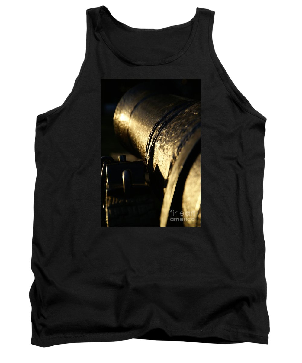Cannon Tank Top featuring the photograph The Splendor Of Antiquity by Linda Shafer