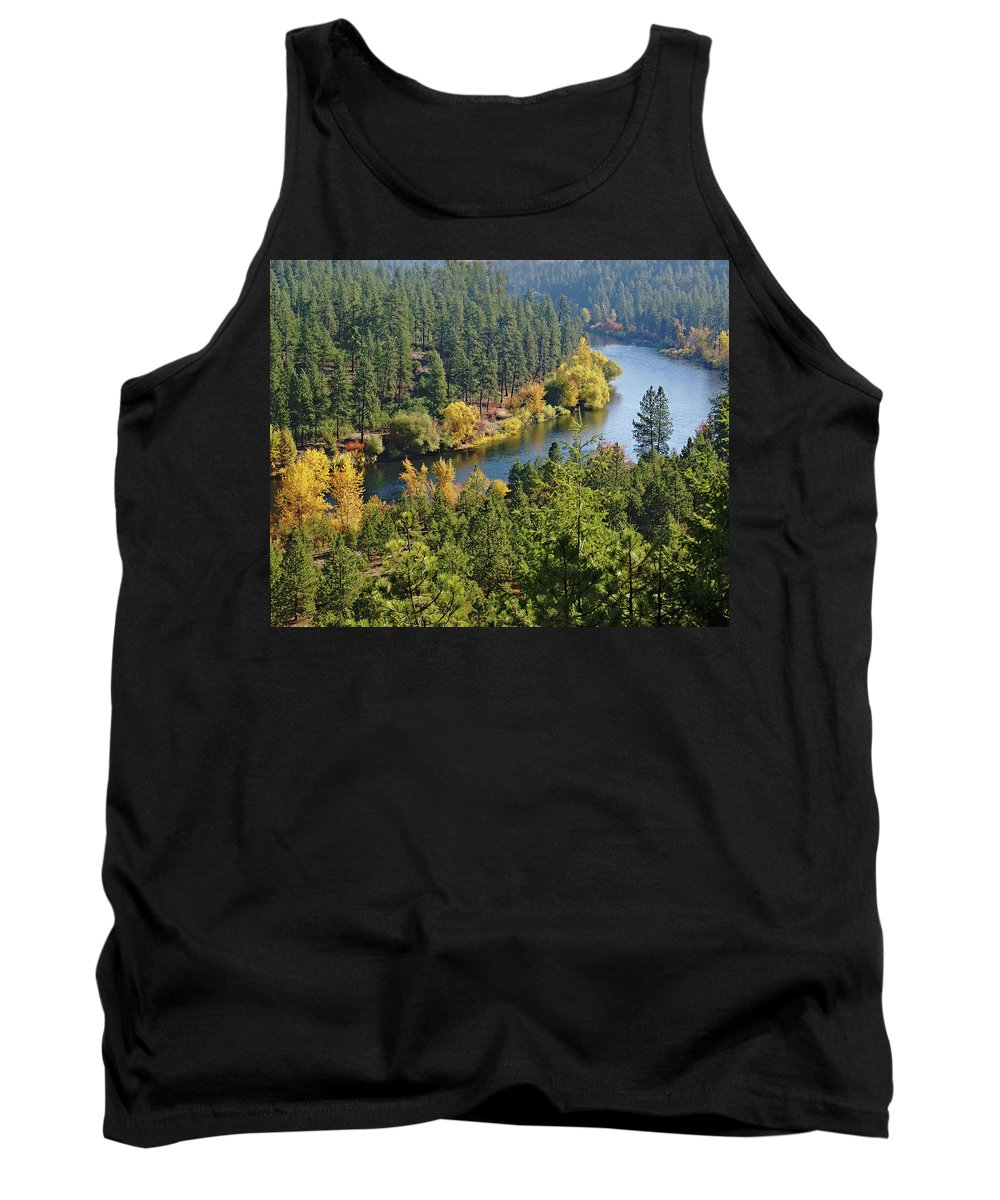 Nature Tank Top featuring the photograph The Spokane River by Ben Upham III