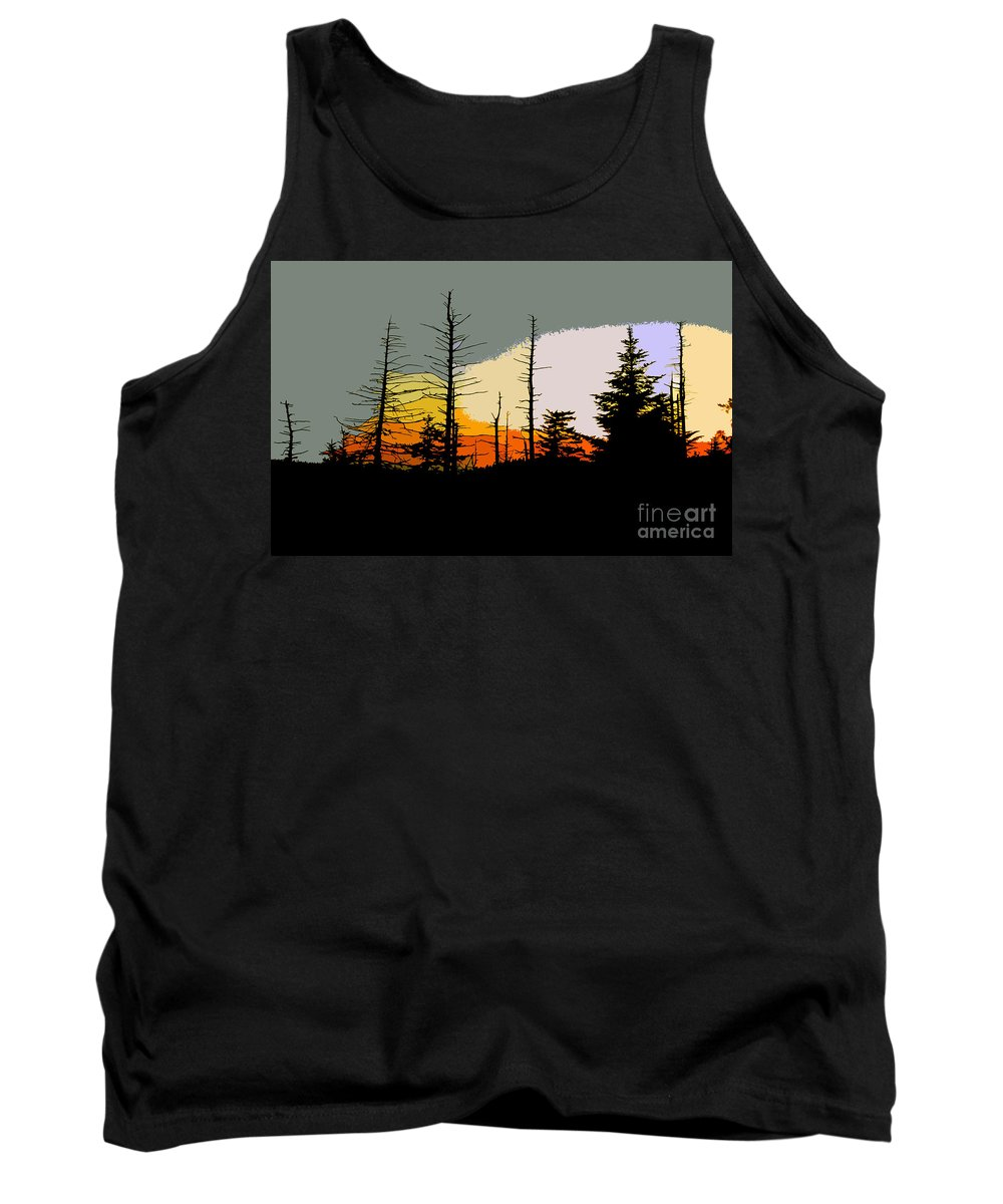 Forest Tank Top featuring the painting The Stained Glass Forest by David Lee Thompson