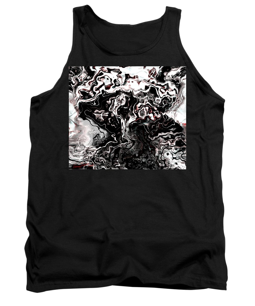 Storm Wind Clouds Nature Wind Tank Top featuring the digital art The Storm by Veronica Jackson