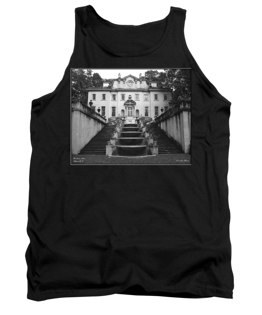 Historic Landmark Tank Top featuring the photograph The Swan House by Robert Meanor