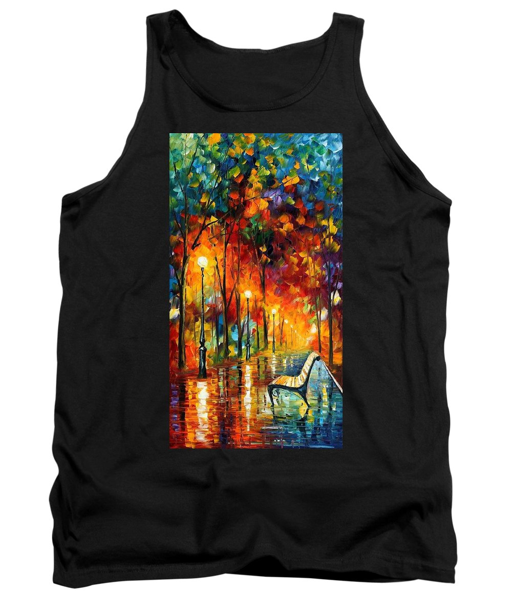 Afremov Tank Top featuring the painting The Symphony Of Light by Leonid Afremov